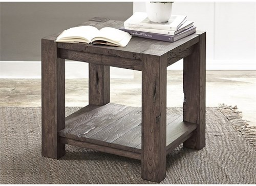 Liberty Furniture Mercer Court Occasional End Table with Shelf