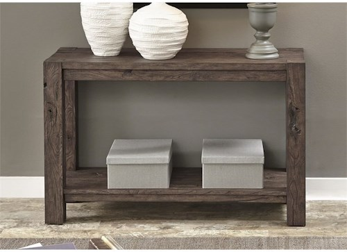 Liberty Furniture Mercer Court Occasional Sofa Table with Shelf