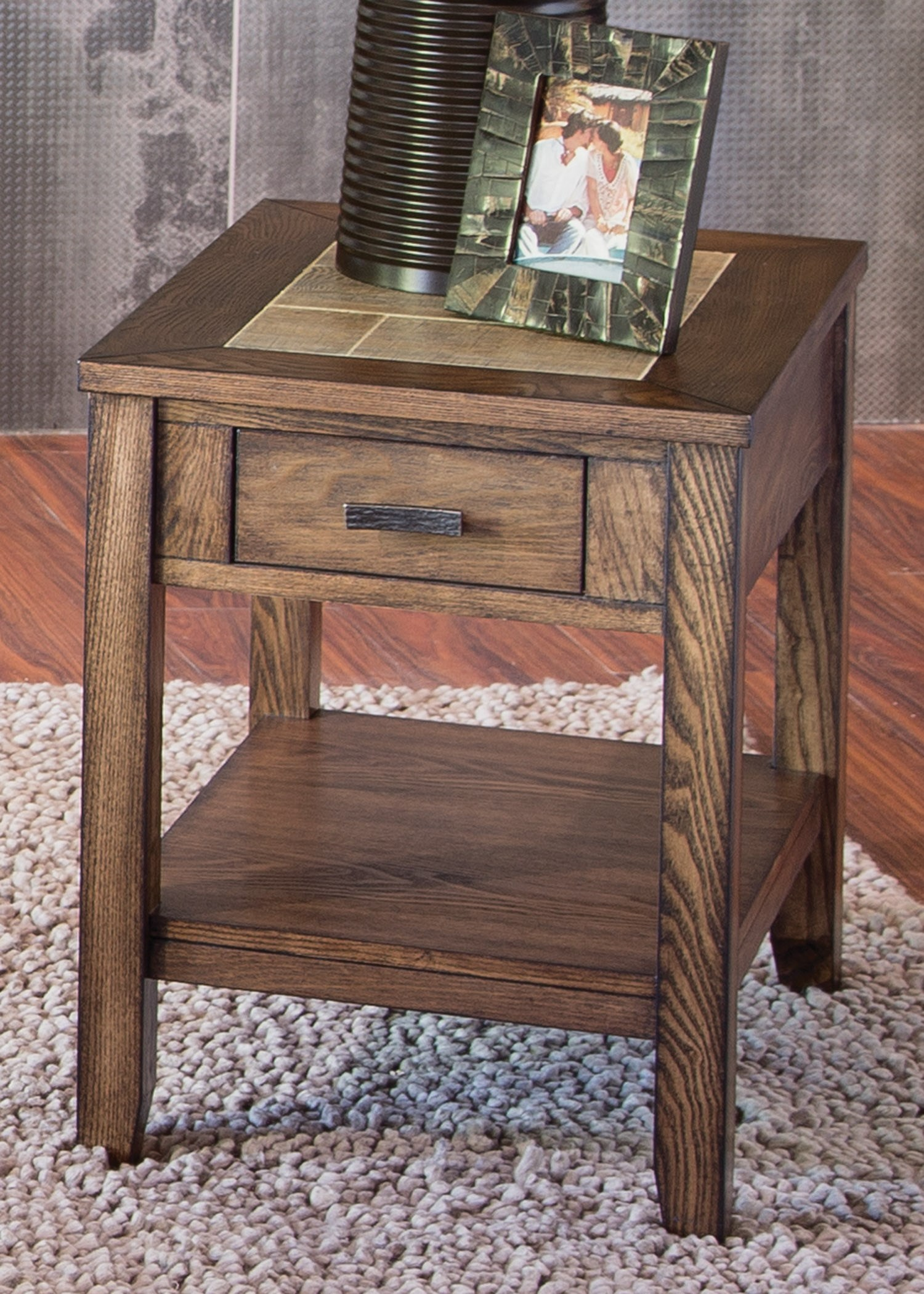 Liberty Furniture Mesa Valley Occasional Chair Side Table With Ceramic Tile  Top