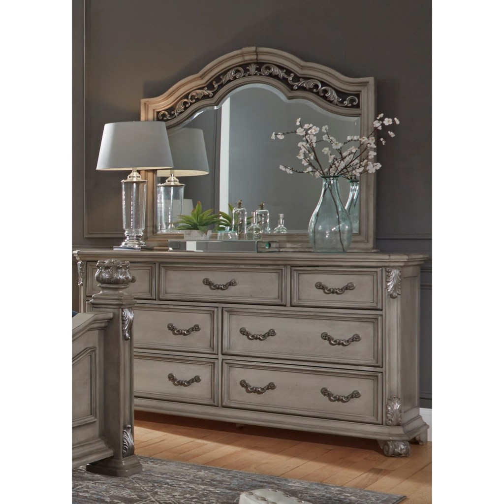 Liberty furniture messina estates bedroom7 drawer dresser with mirror
