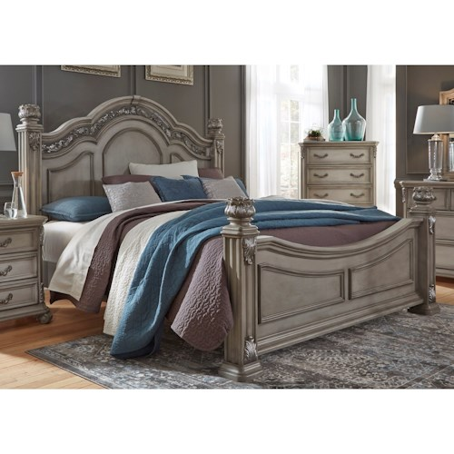 Liberty Furniture Messina Estates Bedroom King Poster Bed