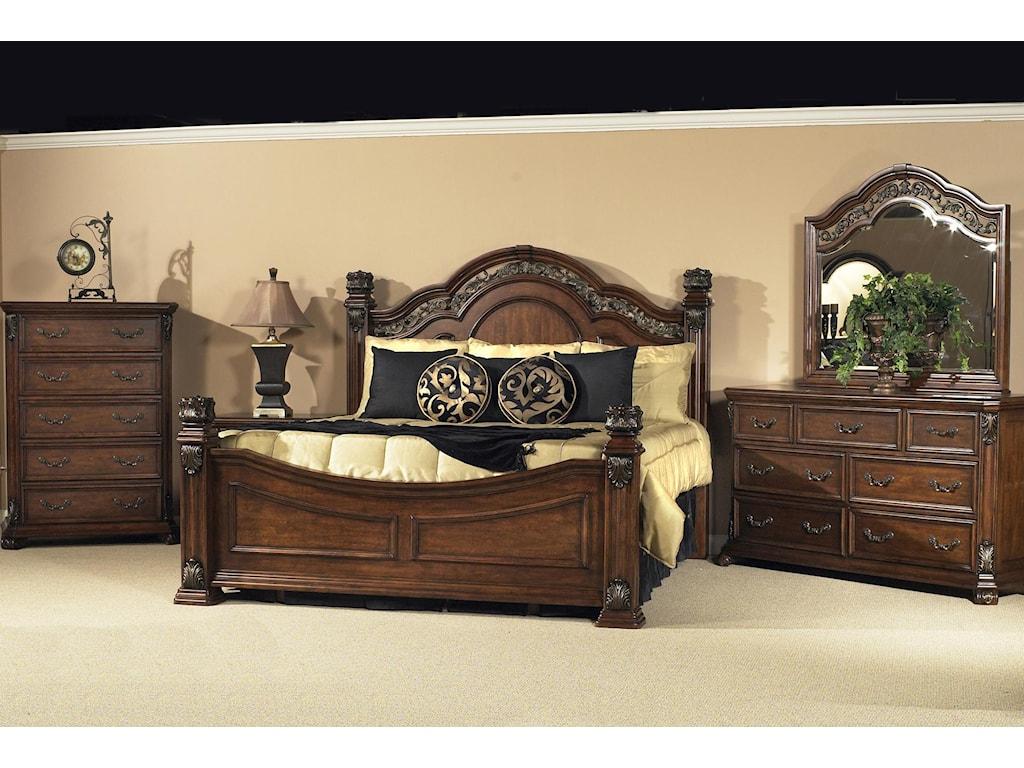 Liberty Furniture Messina EstatesKing Poster Bed