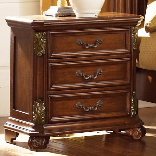 Liberty Furniture Messina Estates Nightstand with 3 Drawers
