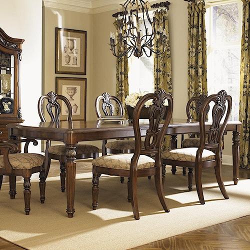 Liberty Furniture Messina Estates Traditional Rectangular Leg Dining Table