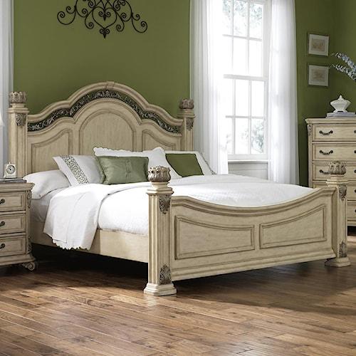 Liberty Furniture Messina Estates II Queen Poster Bed