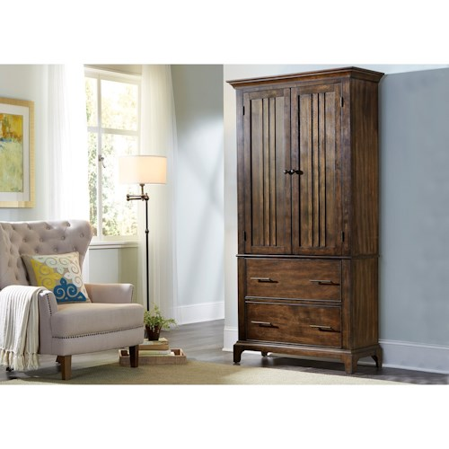 Liberty Furniture Mill Creek 458 Armoire With Two Doors And Drawers