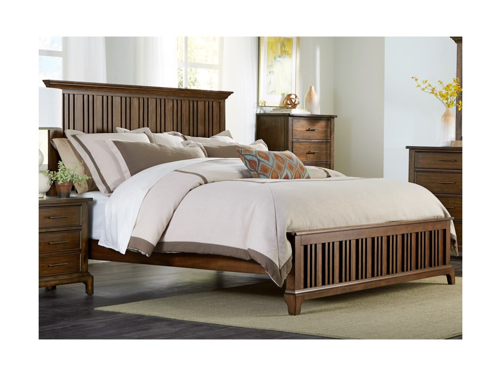 Liberty Furniture Mill Creek 458 Queen Panel Bed Zak S Fine Beds