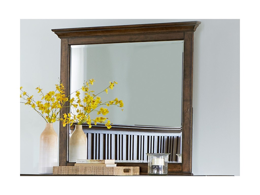Liberty Furniture Mill Creek 458Mirror with Wood Frame