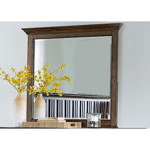 Liberty Furniture Mill Creek 458 Mirror with Wood Frame