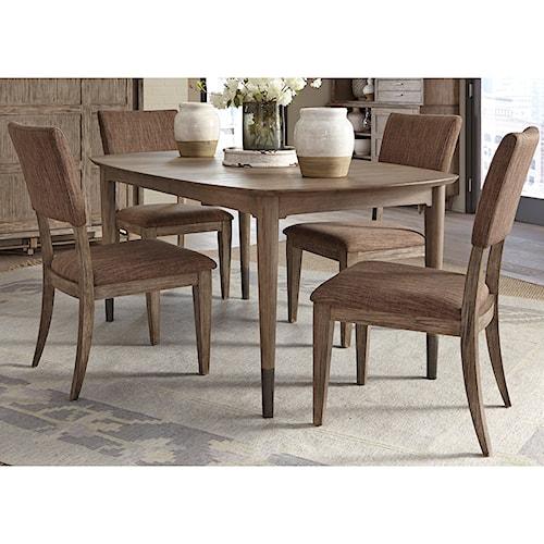 Liberty Furniture Miramar 5 Piece Oval Table Set