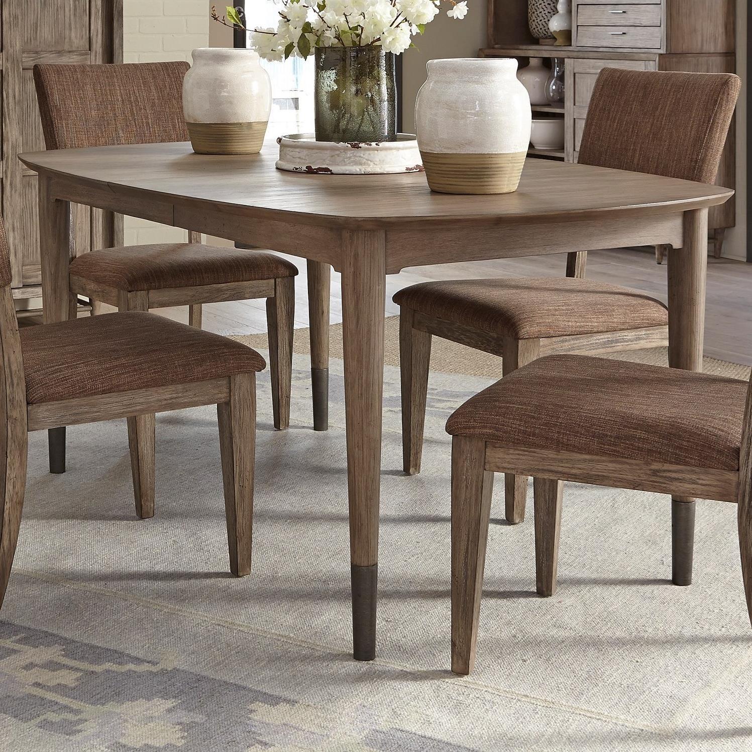 Liberty Furniture Miramar Oval Leg Table With Leaf