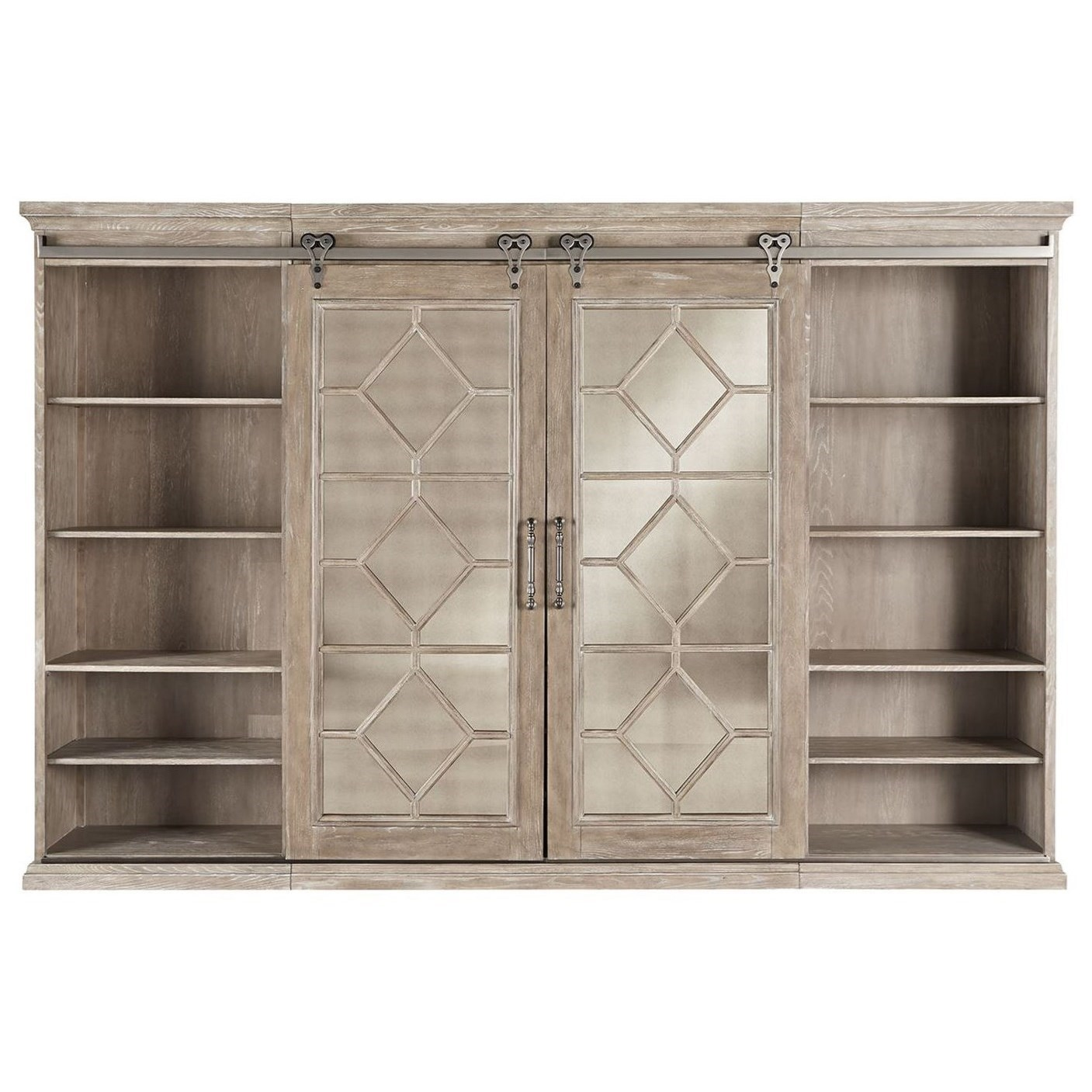 Liberty Furniture Mirrored ReflectionsEntertainment Center With Piers ...