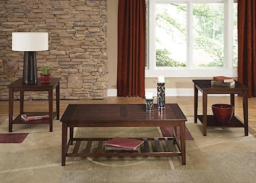 Liberty Furniture Missoula 3-Piece Plank Style Table Set