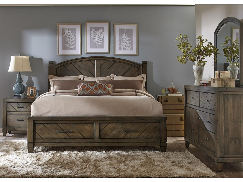 Liberty Furniture Modern CountryKing Storage Bed