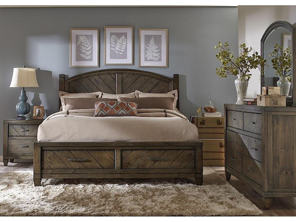 Vendor 5349 Modern CountryKing Storage Bed