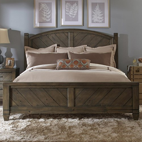 Liberty Furniture Modern Country Casual Rustic Queen Poster Bed