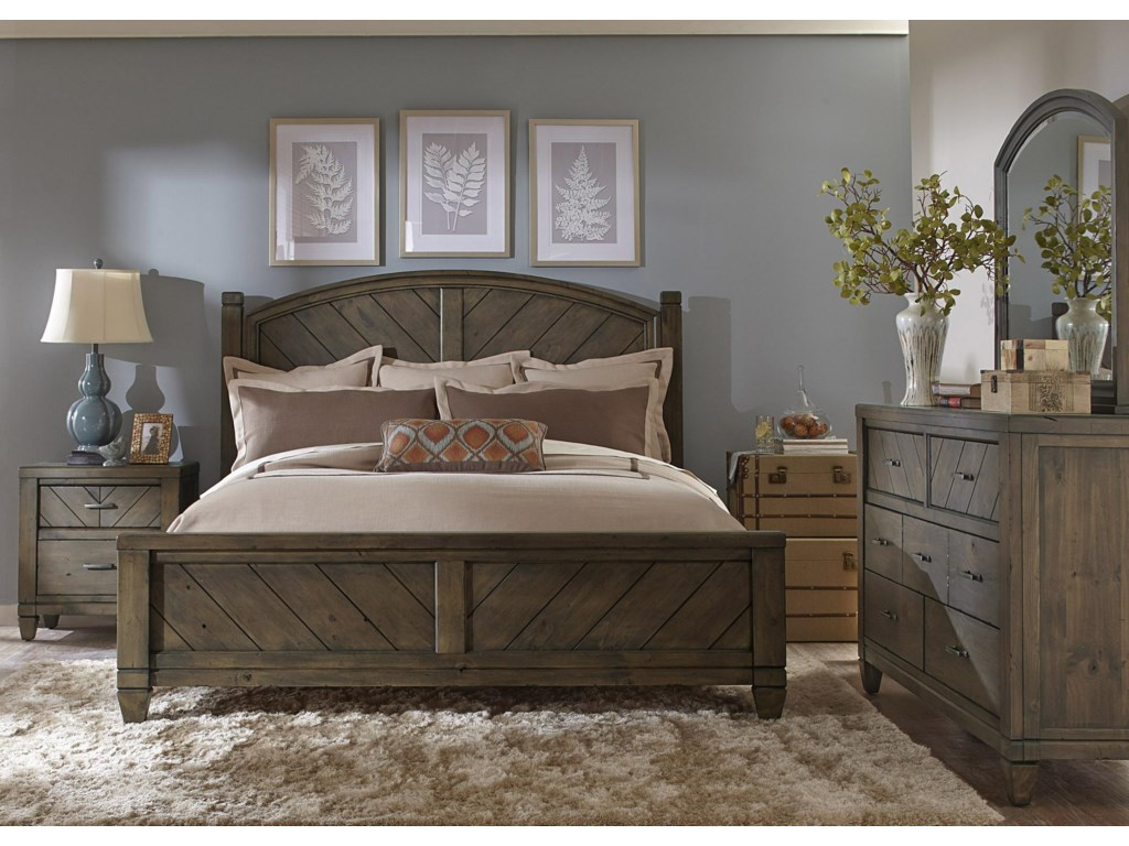 Liberty Furniture Modern CountryQueen Poster Bed