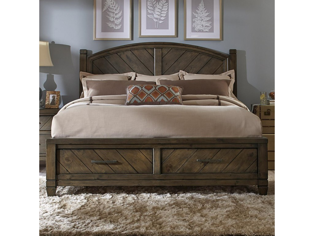 Liberty Furniture Modern Countryqueen Storage Bed