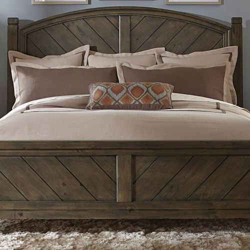 Liberty Furniture Modern Country Casual Rustic Queen Poster Headboard Standard Furniture