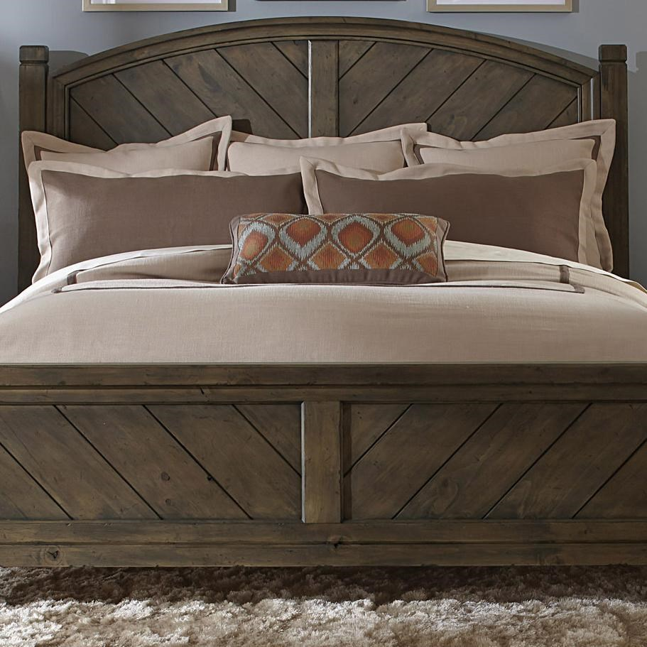 Modern country casual rustic queen poster headboard