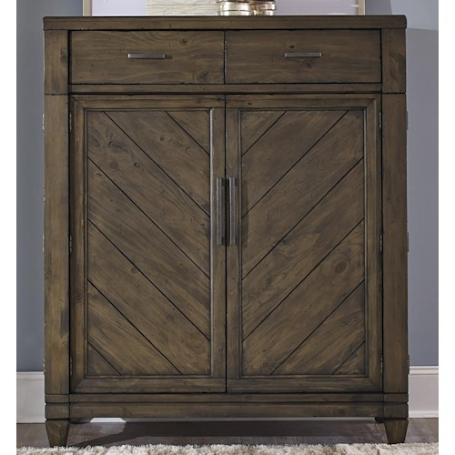 Liberty Furniture Modern Country Casual Rustic 2 Door and 2 Drawer Chest