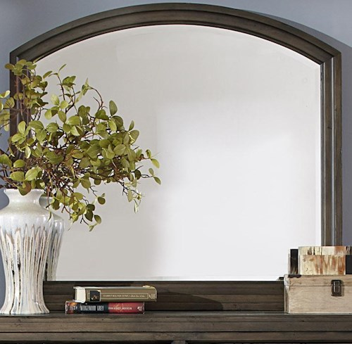 Liberty Furniture Modern Country Casual Rustic Framed Landscape Mirror