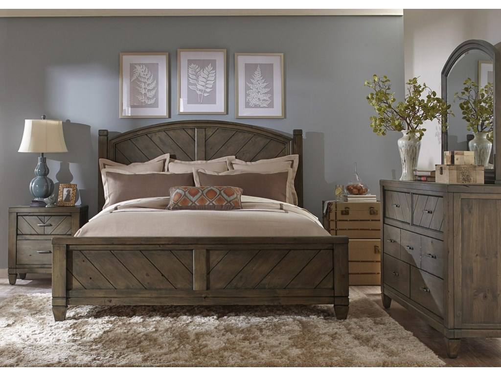 Liberty Furniture Modern Country 3 Piece Bedroom Set Includes Queen ...