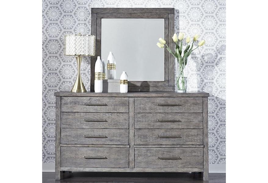 Modern Farmhouse Contemporary 8-Drawer Dresser and Mirror Set by Sarah  Randolph Designs at Virginia Furniture Market
