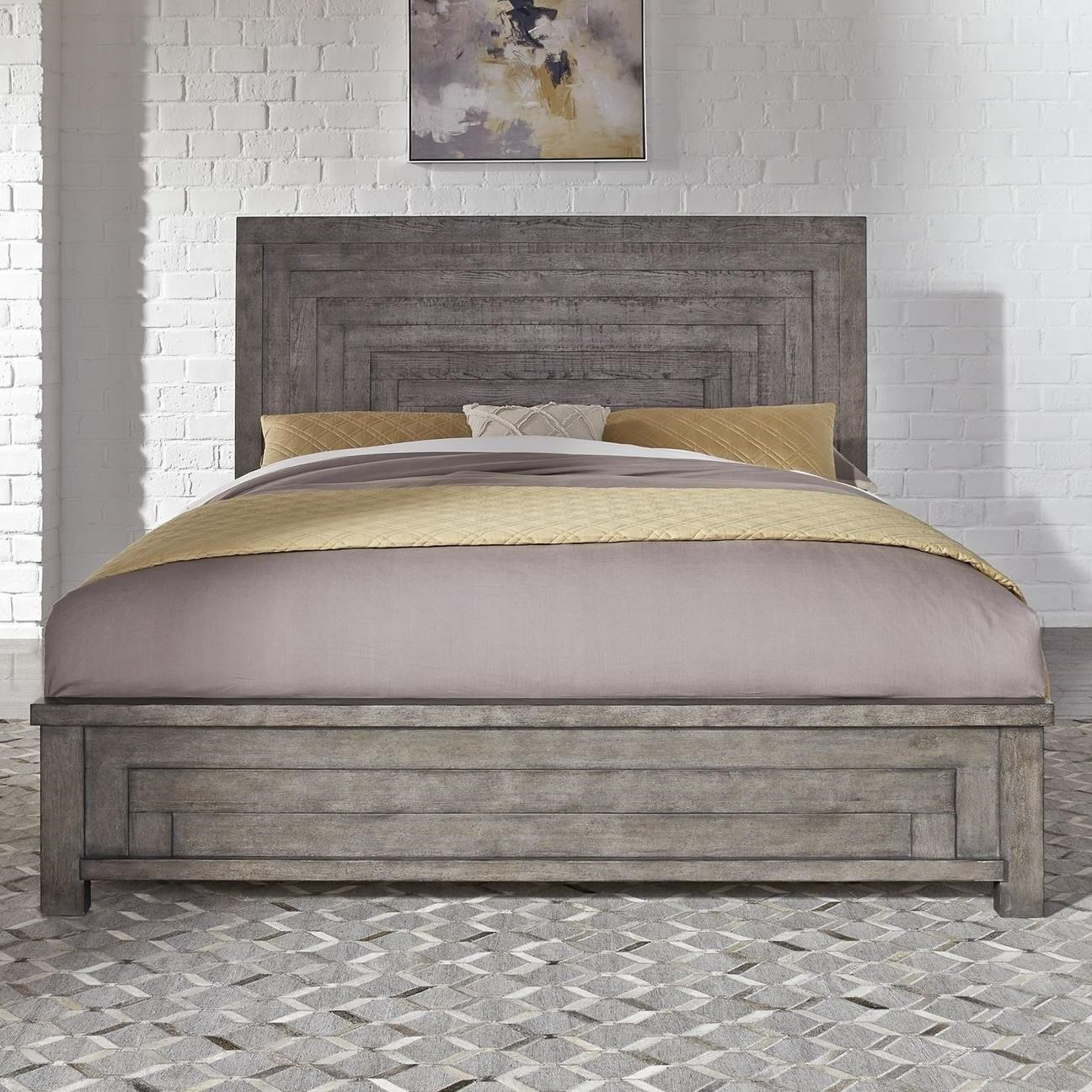 Picture of: Liberty Furniture Modern Farmhouse Contemporary Queen Low Profile Bed Royal Furniture Platform Beds Low Profile Beds