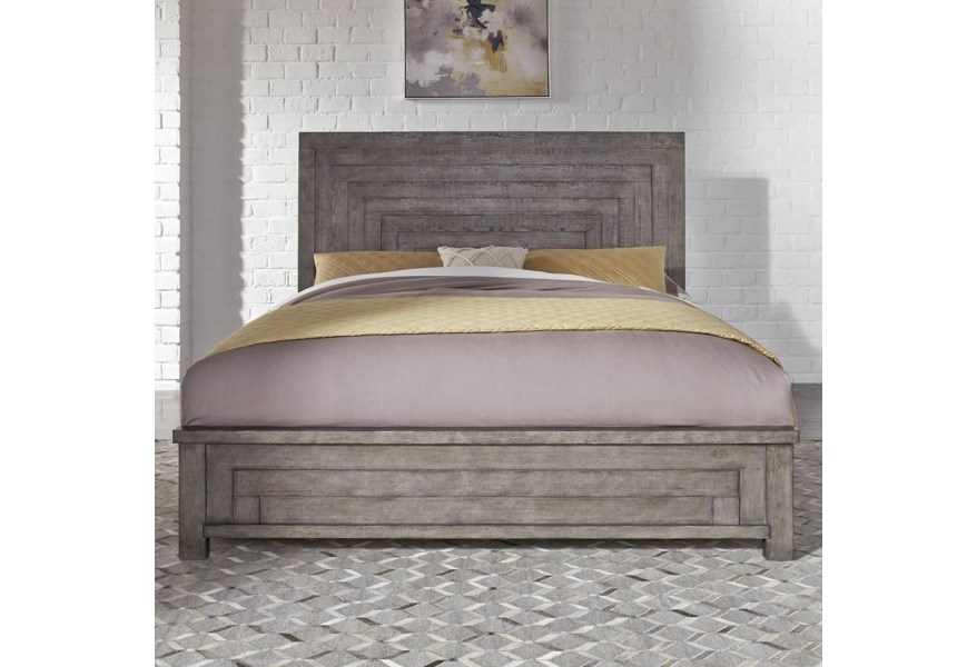 Modern Farmhouse Contemporary Queen Low Profile Bed By Sarah Randolph Designs At Virginia Furniture Market