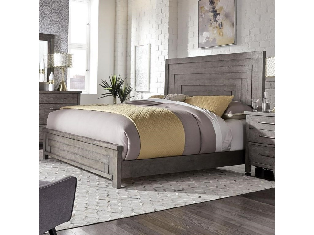 Liberty Furniture Modern FarmhouseQueen Low Profile Bed