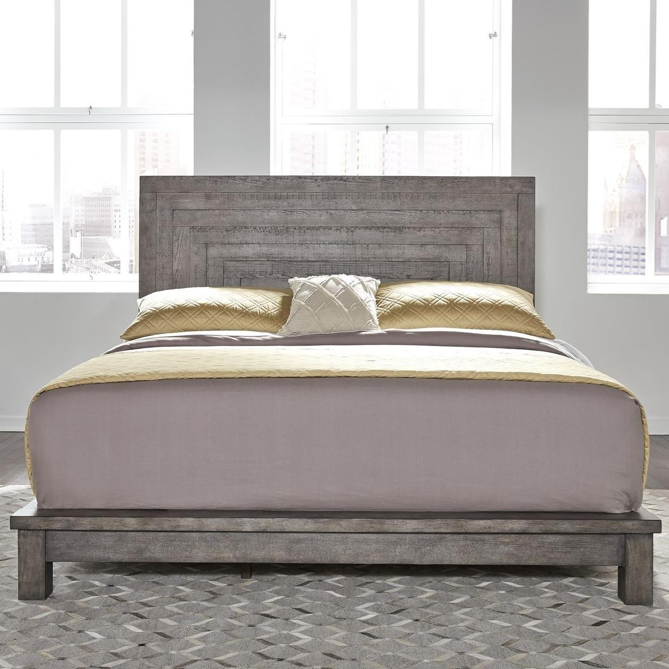 Picture of: Liberty Furniture Modern Farmhouse 406 Br Qpl Contemporary Queen Platform Bed Sam Levitz Furniture Platform Beds Low Profile Beds