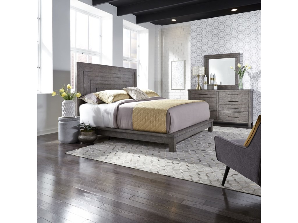 Liberty Furniture Modern FarmhouseQueen Platform bed
