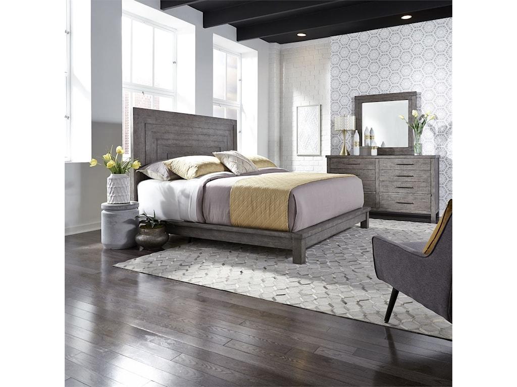 Liberty Furniture Modern FarmhouseQueen Platform bed