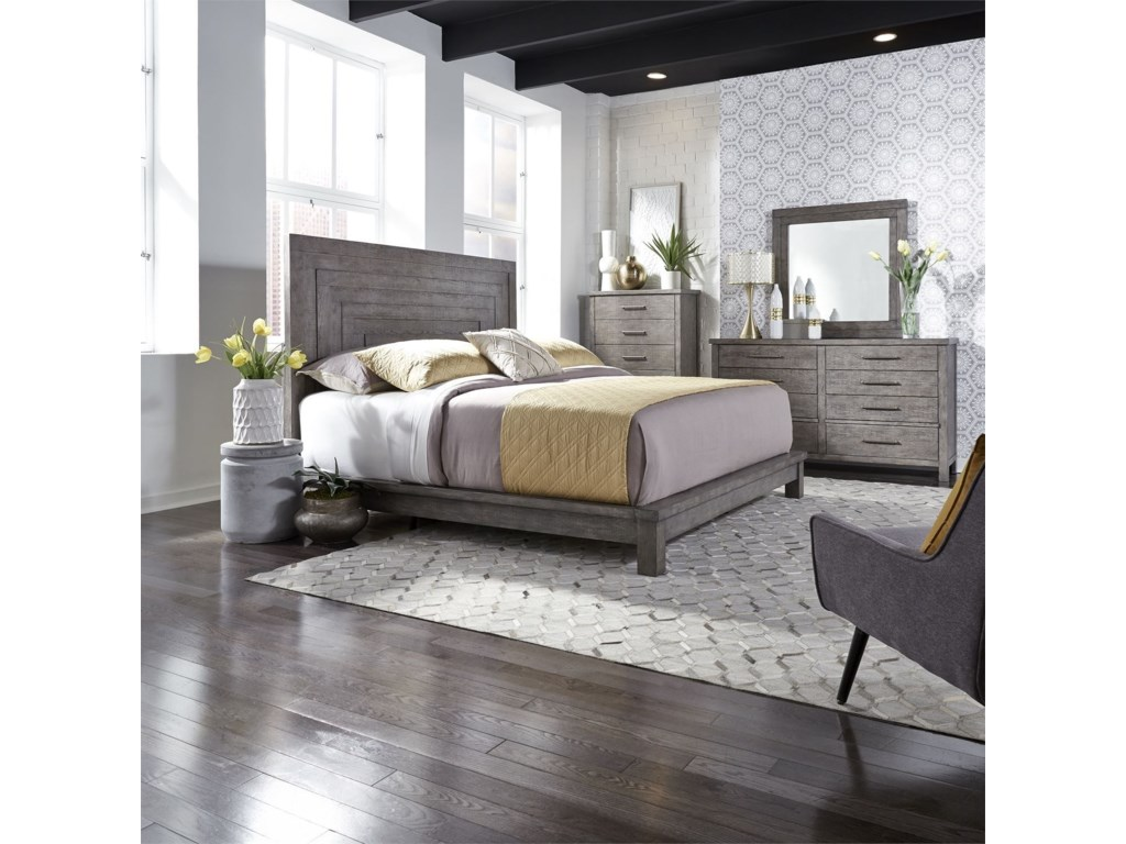 Liberty Furniture Modern FarmhouseQueen Bedroom Group