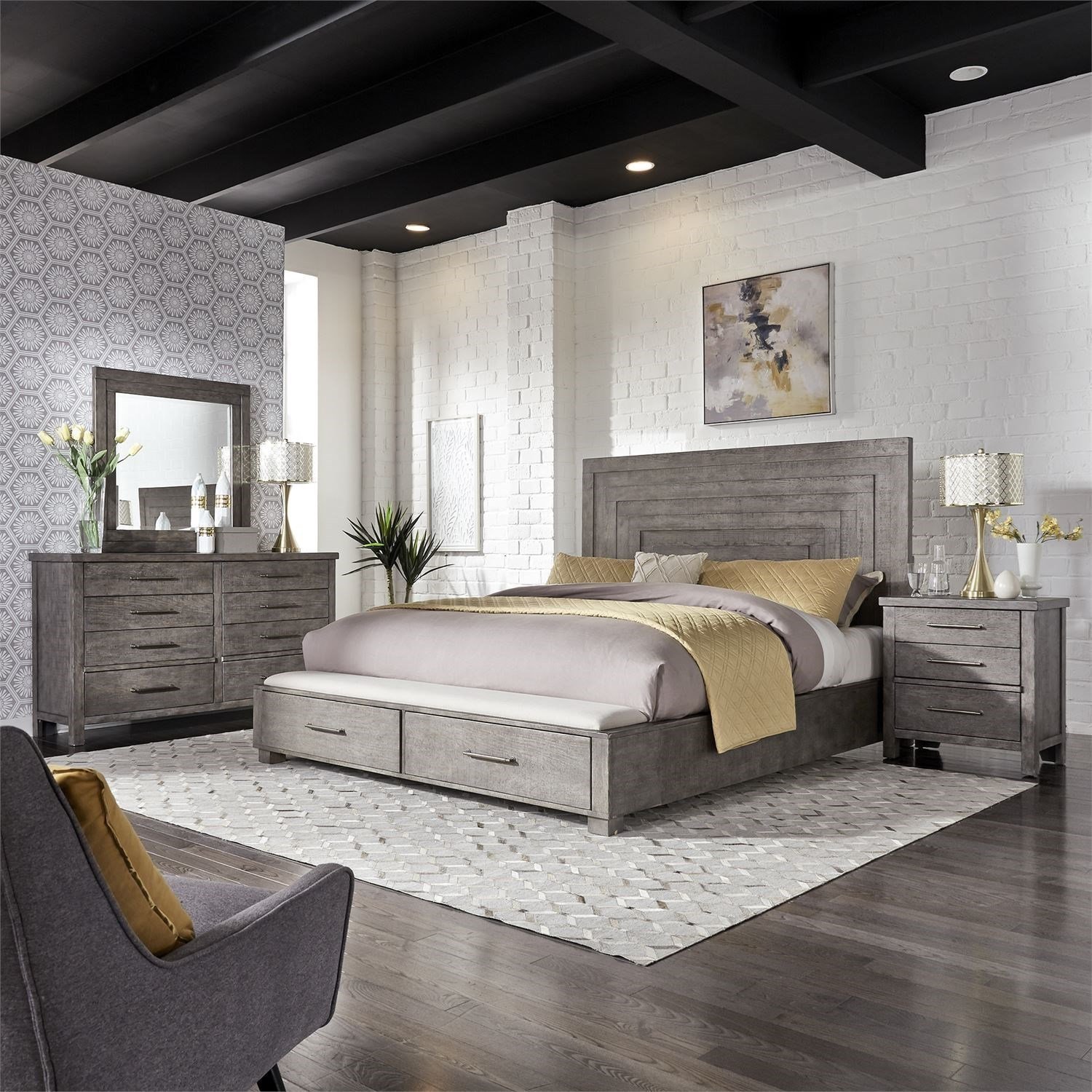 Liberty Furniture Modern Farmhouse Queen Bedroom Group Royal Furniture Bedroom Groups