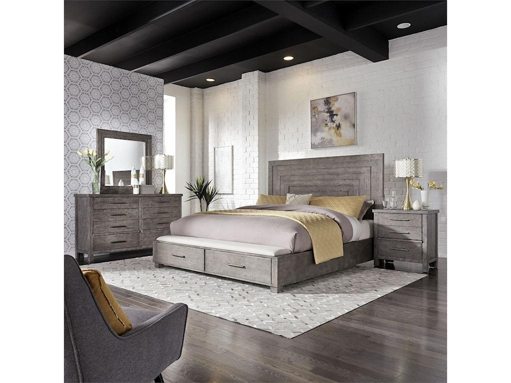Modern Farmhouse Queen Bedroom Group