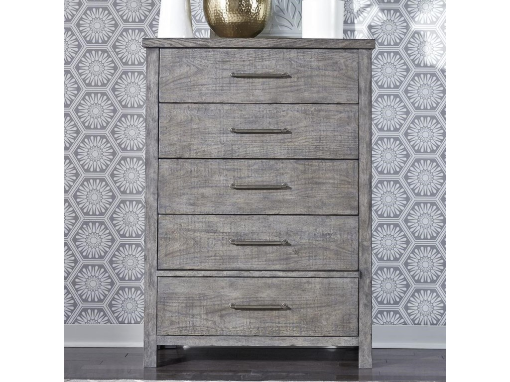 size 40 95bde 884c7 Modern Farmhouse Contemporary 5-Drawer Chest with Felt Lined Top Drawer by  Liberty Furniture at Great American Home Store
