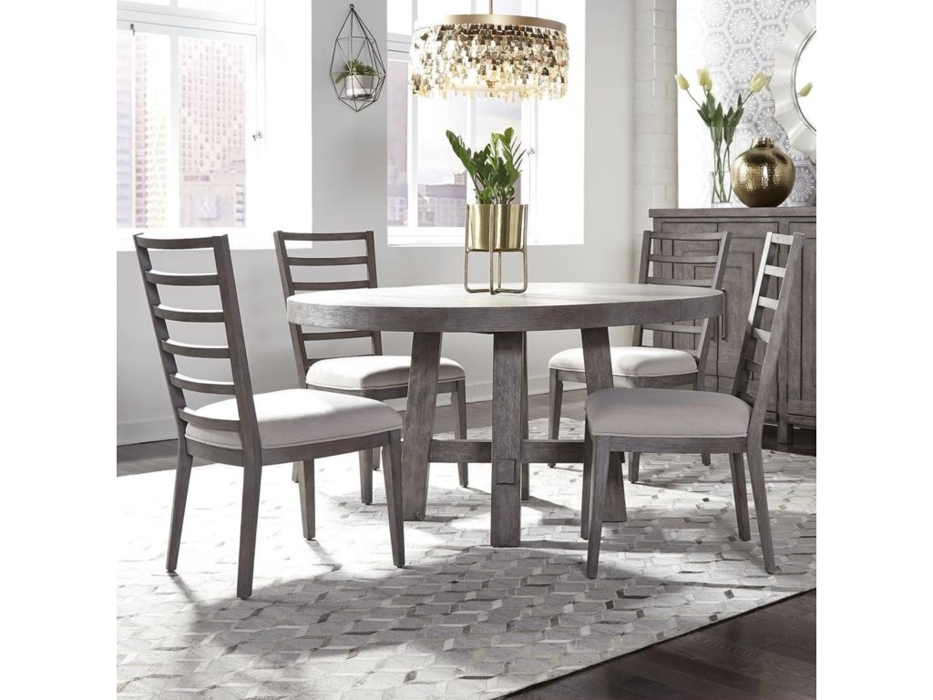 Liberty Furniture Modern Farmhouse5-Piece Round Table and Chair Set