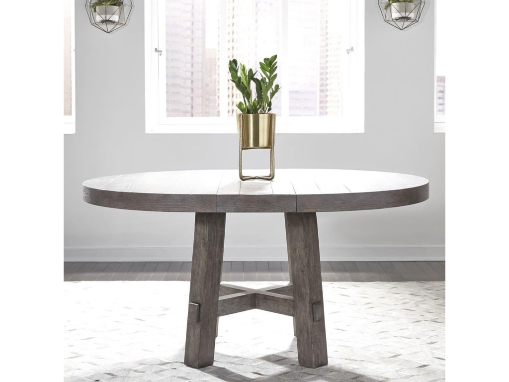 Liberty Furniture Modern Farmhouse Contemporary Round Dining Table ...