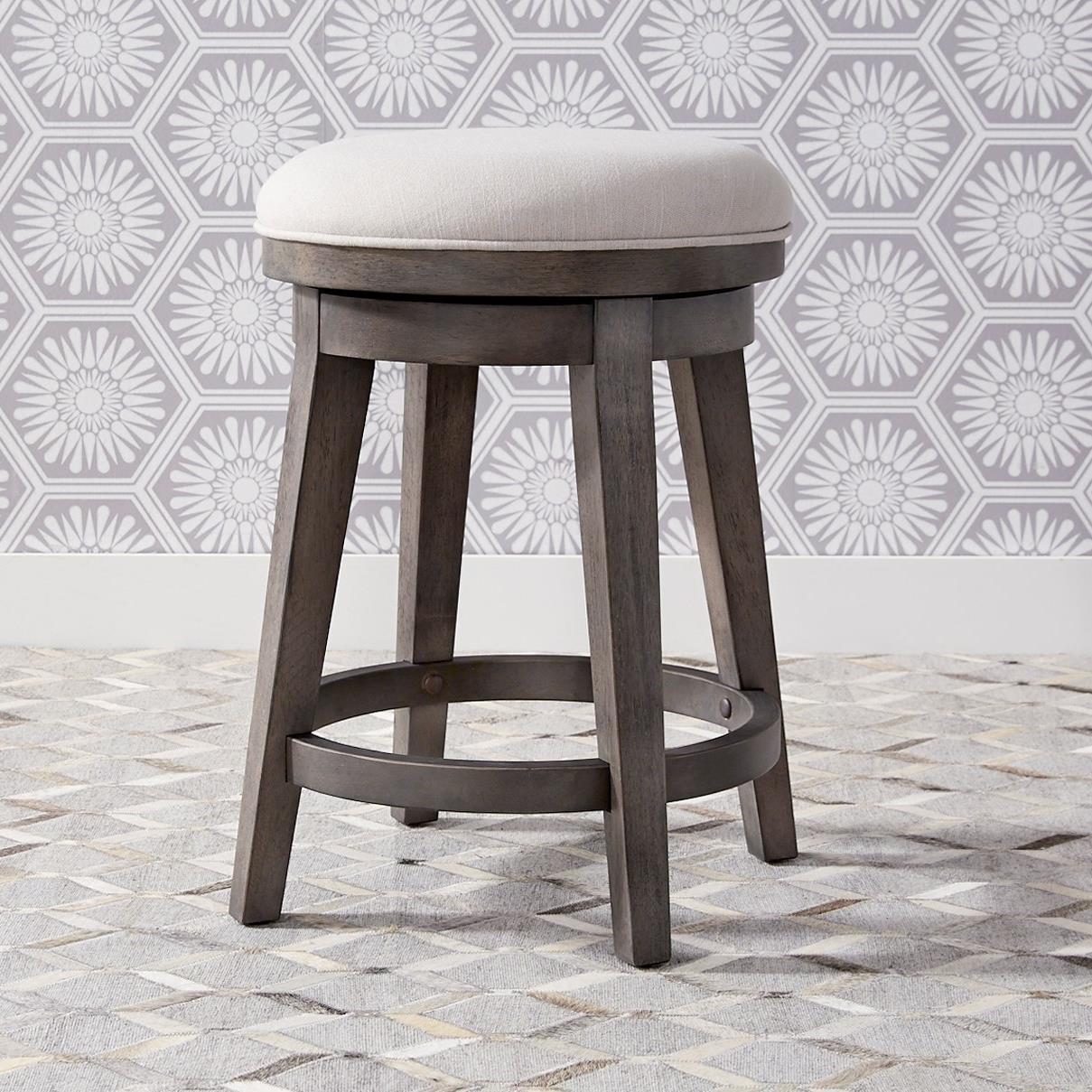 Contemporary Upholstered Swivel Stool