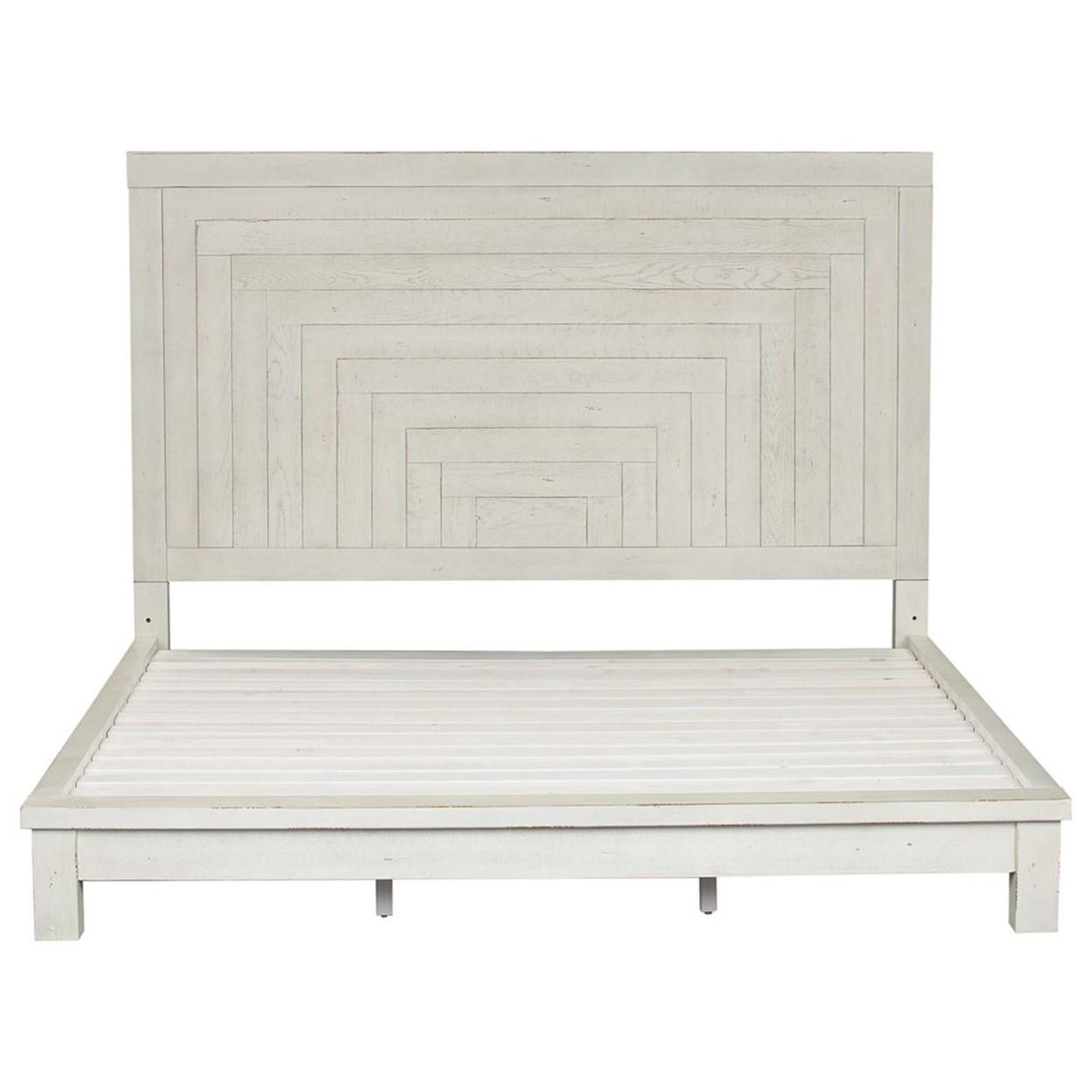 Contemporary Queen Platform Bed