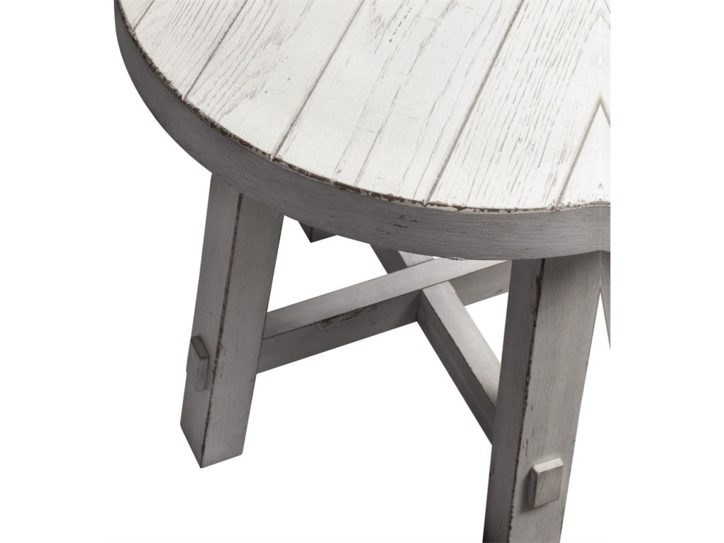 Liberty Furniture Modern Farmhouse Contemporary Splay Leg Round End Table Wayside Furniture End Tables
