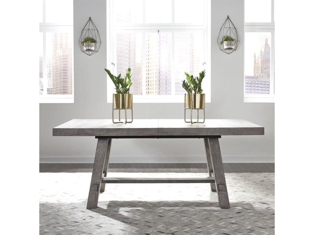 Liberty Furniture Modern Farmhouse7-Piece Trestle Table and Chair Set