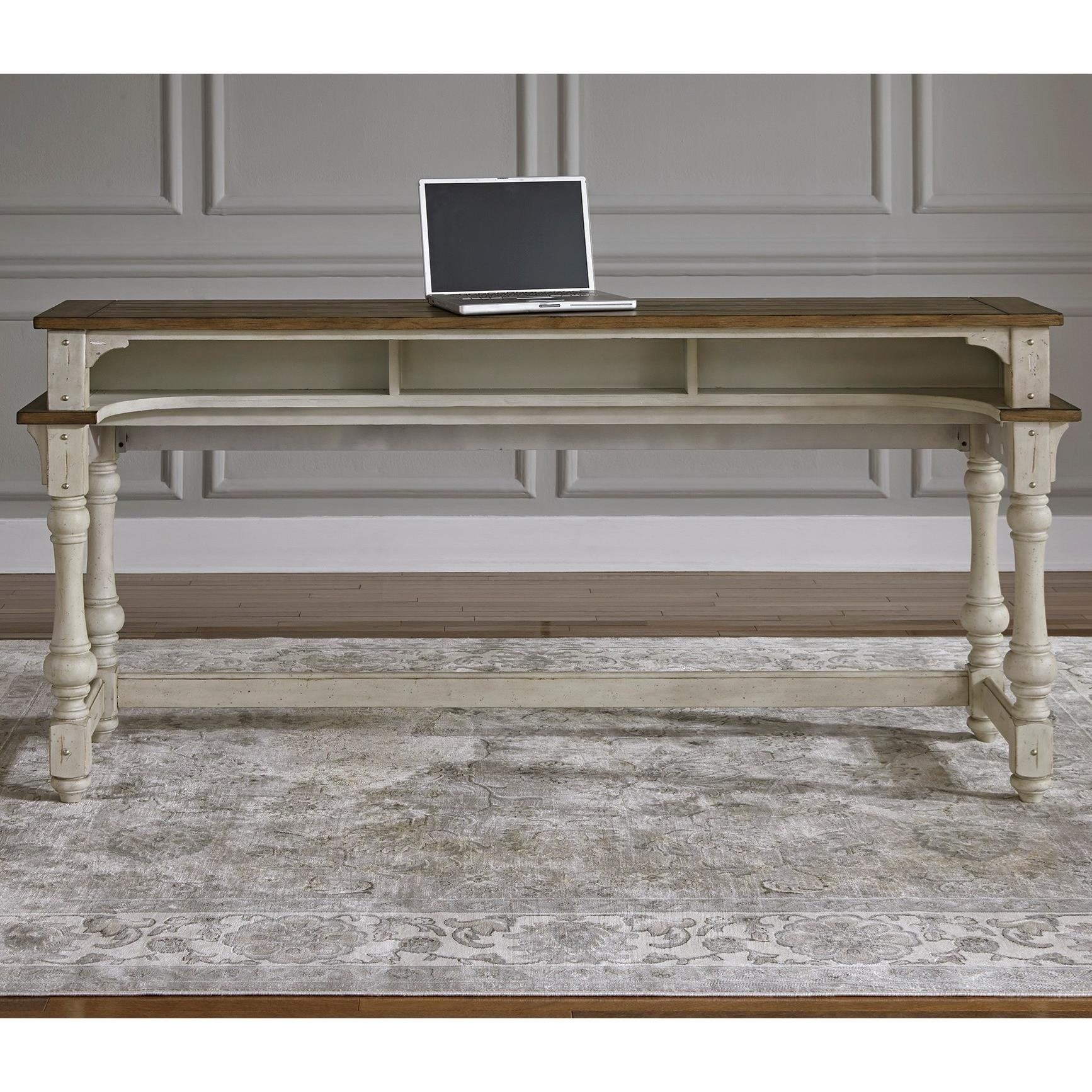 vintage console table. morgan creek relaxed vintage console table with storage by liberty furniture