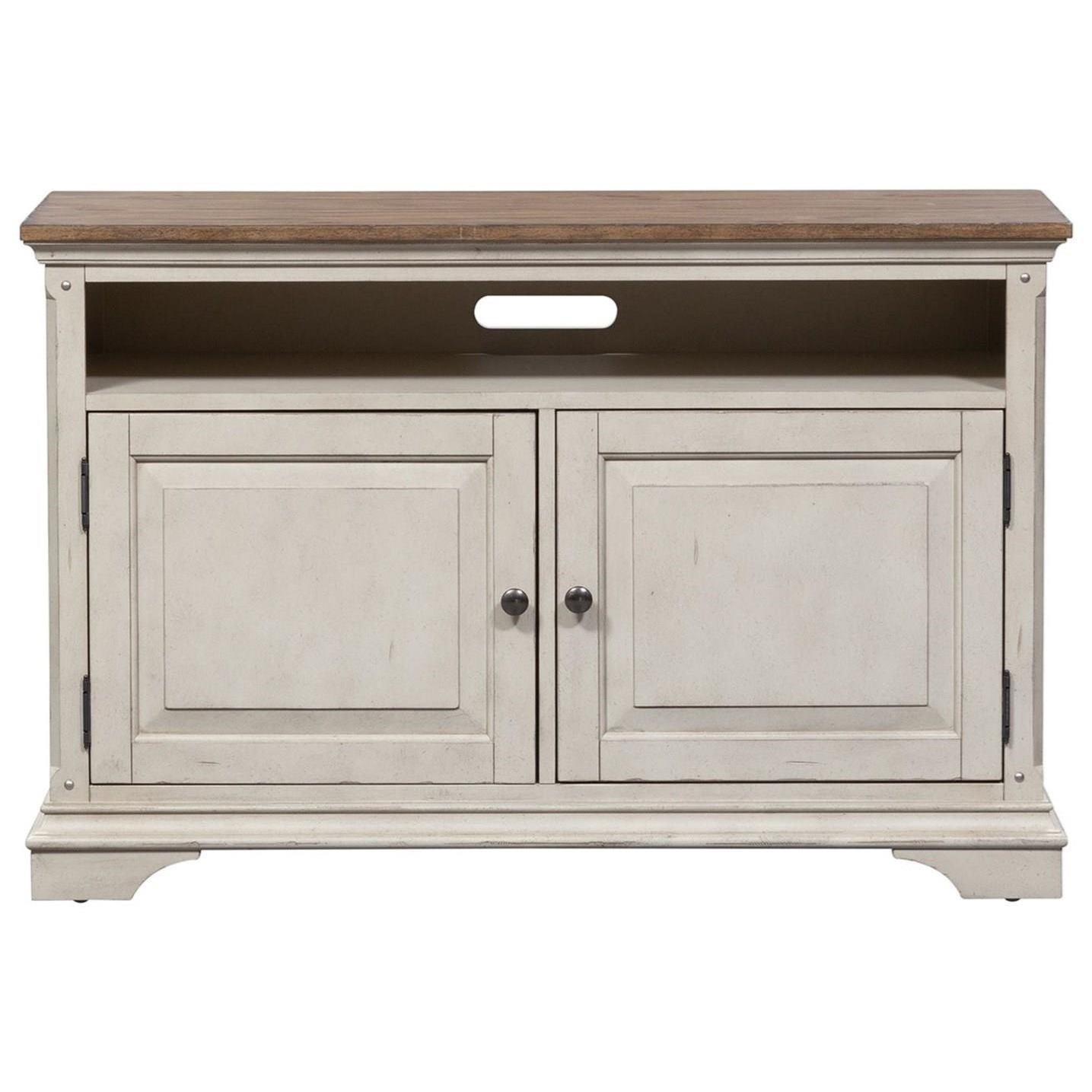 Farmhouse 46 Inch TV Console with 2 Doors