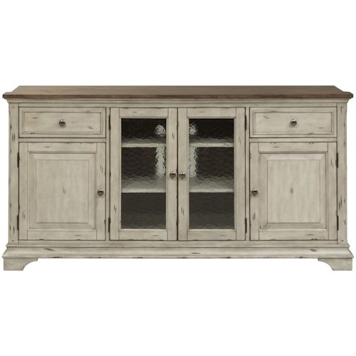 Liberty Furniture Morgan Creek Relaxed Vintage Tv Stand With Adjule Wood Shelves