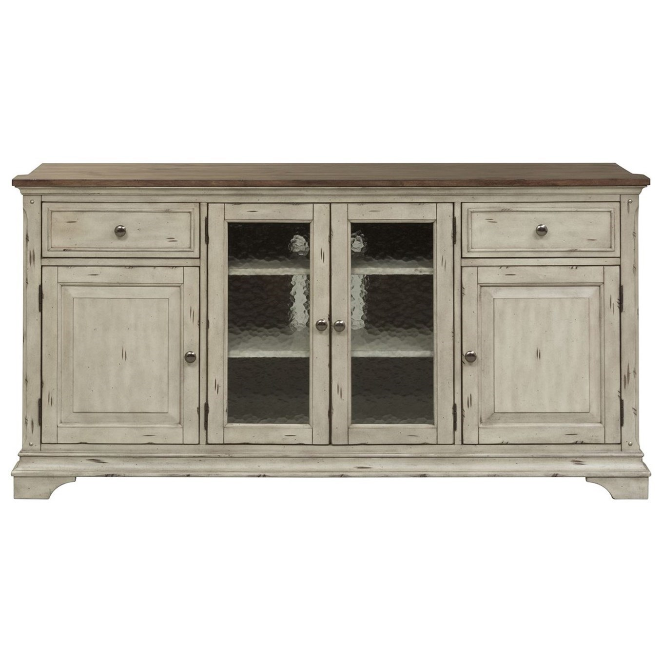 Elegant Liberty Furniture Morgan Creek Relaxed Vintage TV Stand With Adjustable  Wood Shelves
