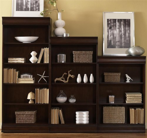 Liberty Furniture Louis Jr. Executive Bookcase with Adjustable Shelves