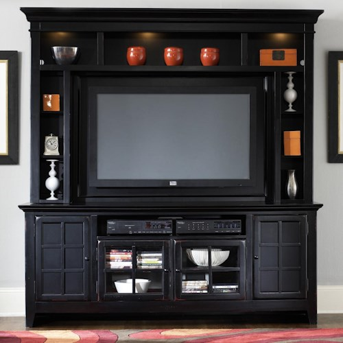 Liberty Furniture New Generation Painted Entertainment Center with Flat Screen TV Mounting Area